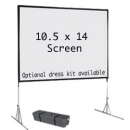 10.5′ x 14′ fast fold projection screen rental