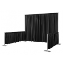 Black Pipe & Drape Rental NYC