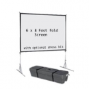 6  x 8 fast fold projection screen
