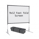 9×12 fast fold projection screen