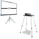 8ft Screen + Projector Package